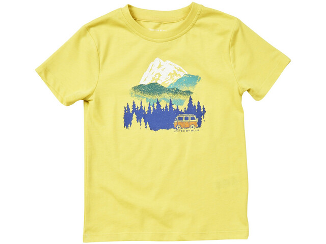 United By Blue Get Away Ride SS Graphic Tee Kinder citron yellow